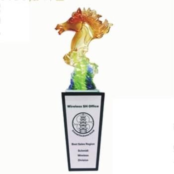獎座型琉璃獎座BJ-374藝術琉璃獎座